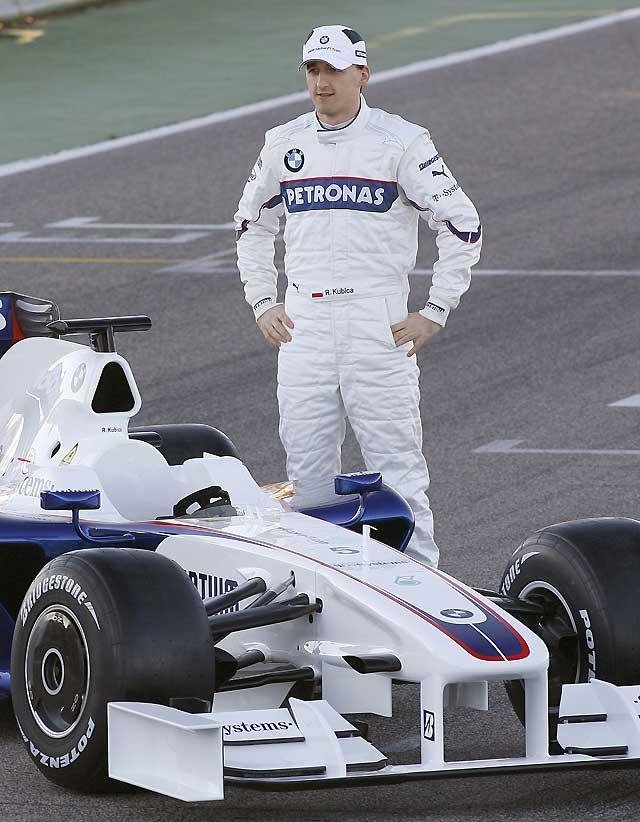Kubica estrena el nuevo F1.09 de BMW en Cheste