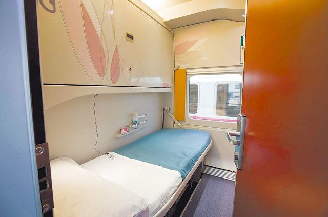 En tren-hotel de Tudela a Barcelona