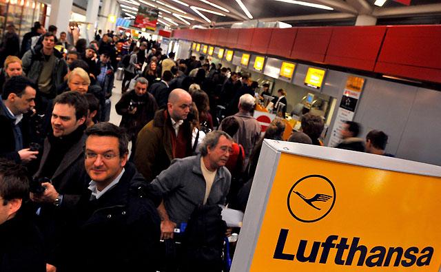 La huelga del personal de cabina provoca retrasos en Lufthansa