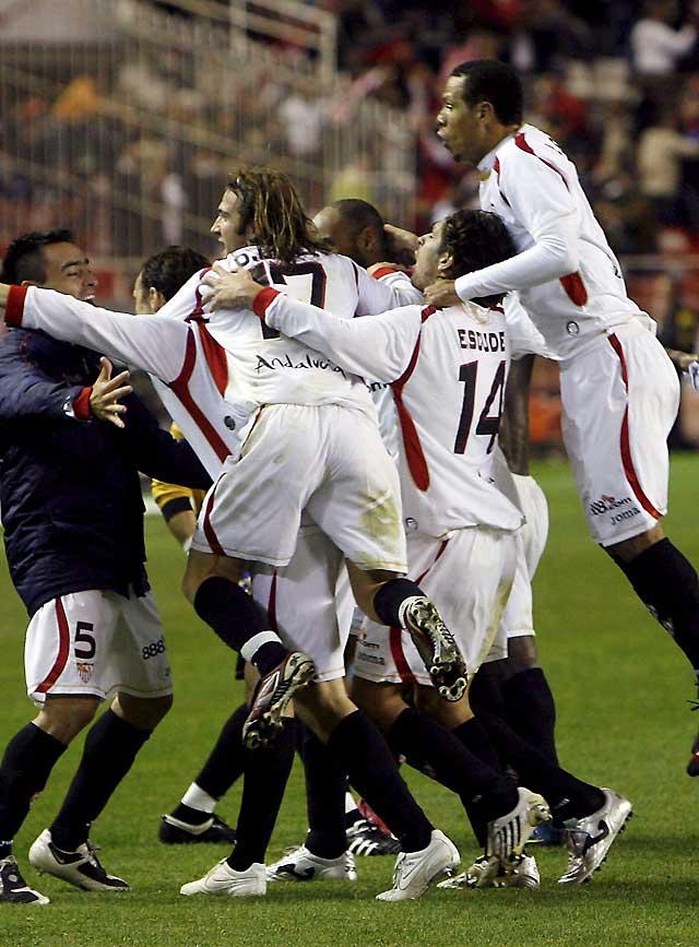 El Sevilla, en el minuto 89