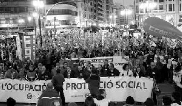 Manifestaciones en Valencia en defensa del empleo