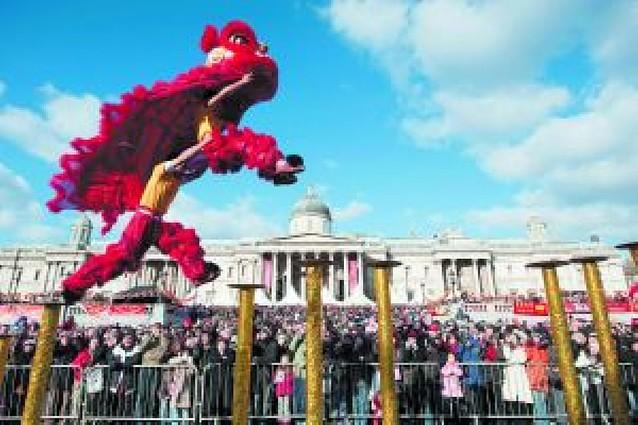 Bienvenida al Nuevo Año Chino en Trafalgar Square