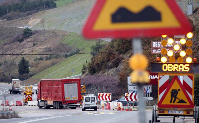 Los últimos accidentes llevan a Obras Públicas a tomar medidas en Endériz