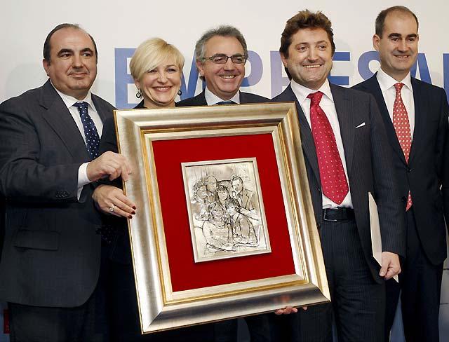 La familia Idoate, galardonada con el premio Empresario del Año en Navarra