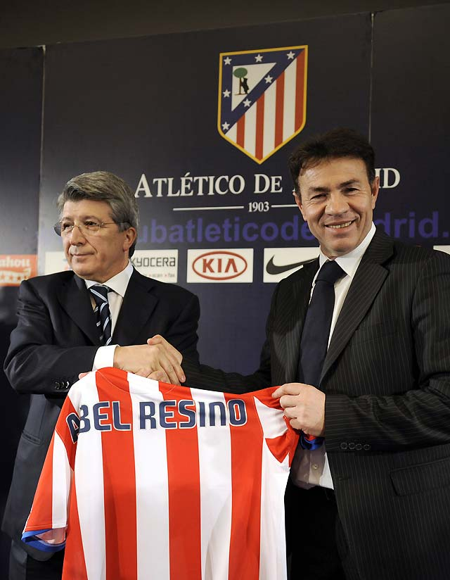 Abel Resino cumple su sueño de dirigir al Atlético de Madrid