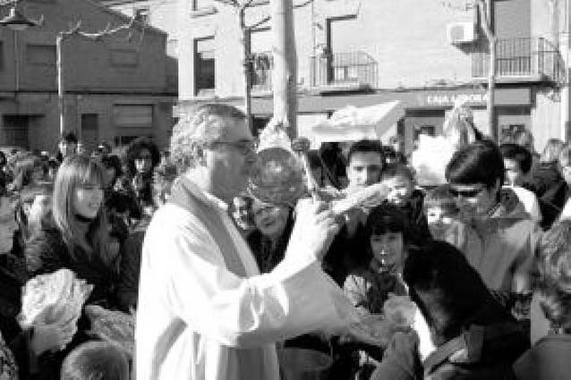 San Blas repartió sus bendiciones