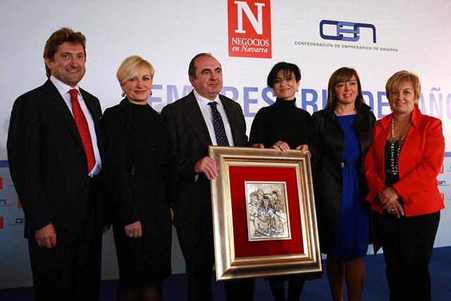 La familia Idoate, premio al empresario del año