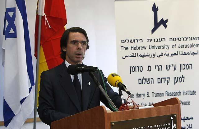 Aznar asegura que la seguridad de Occidente depende de la seguridad de Israel