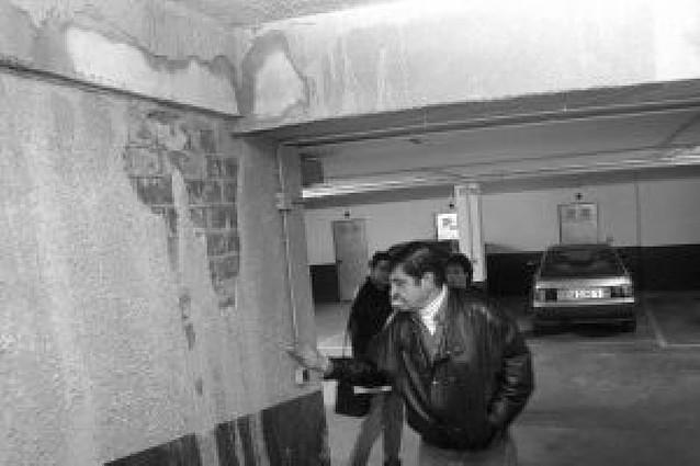 Huarte requiere a la promotora a reparar los garajes de Zarraondoa y Leandro Azcárate