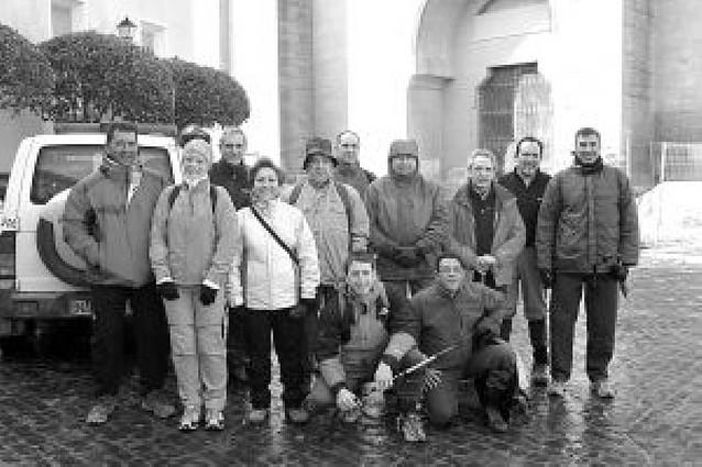 La Ribera inicia la Javierada con nieve y viento