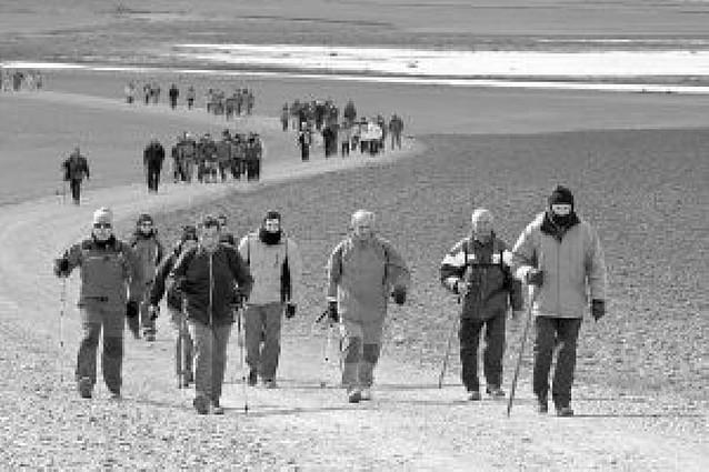 El mal tiempo resta peregrinos en la Ribera