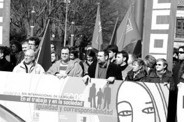 Los sindicatos conmemoran el Día Internacional de la Mujer con distintos actos