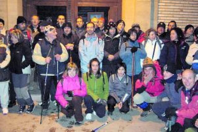 Los peregrinos de Buñuel salieron este año desde la Valareña por el mal tiempo