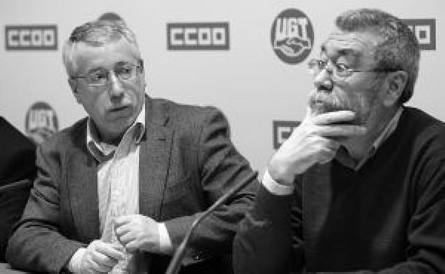 Toxo y Méndez comparan a la CEOE con Darwin al defender la ley del más fuerte