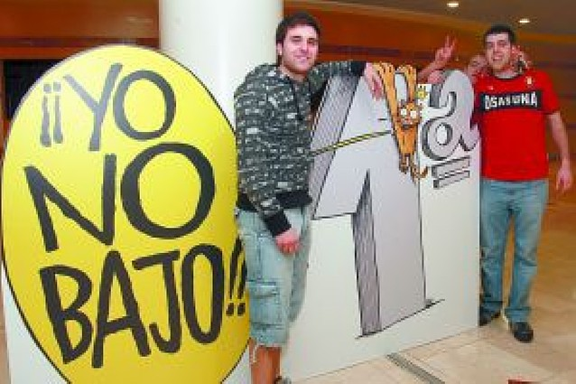 """Fotos con el """"Yo no bajo"""" en La Morea"""