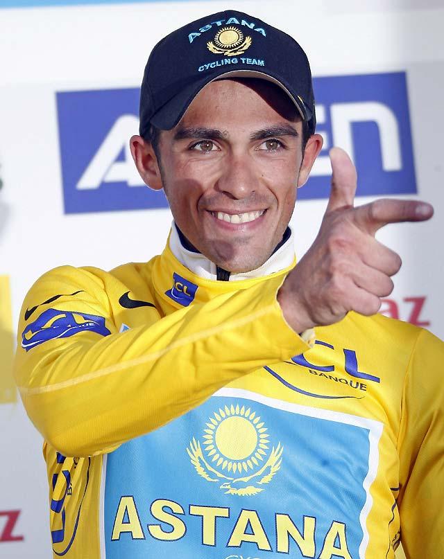Exhibición de Contador, que no correrá en Estella