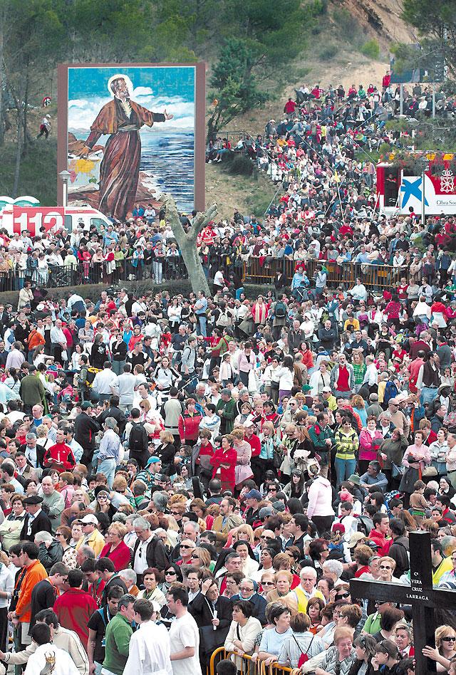 Javier congrega a más de 21.000 peregrinos