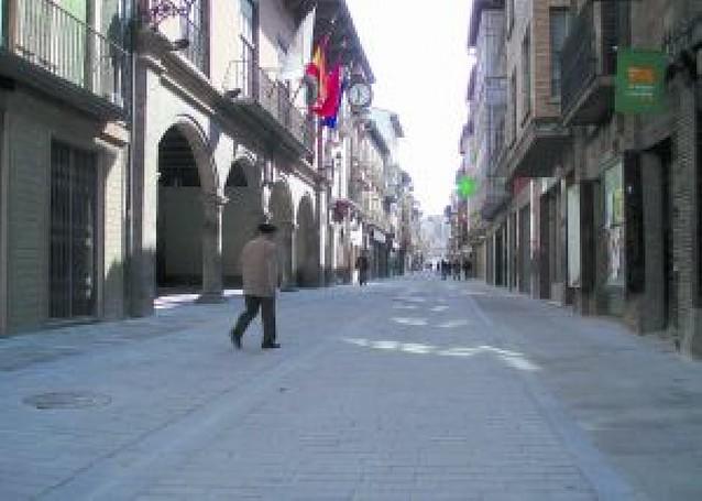 Finalizada la reforma de la calle Mayor de Sangüesa