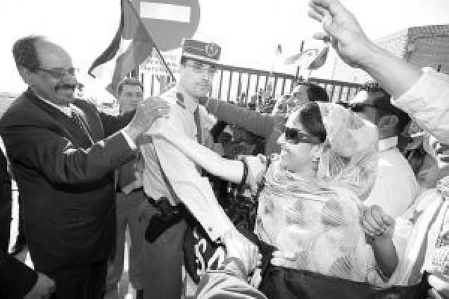 El presidente saharaui reclama en Pamplona la soberanía del territorio