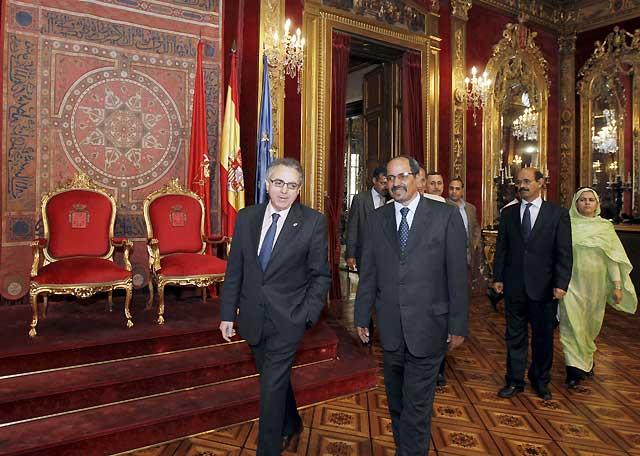 """Mohamed Abdelaziz pide en Pamplona ayuda contra el """"genocidio"""" marroquí contra los saharauis"""