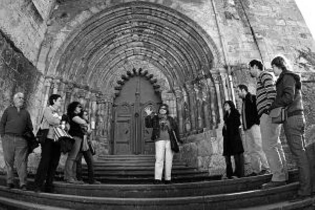 Las obras no impiden que San Pedro de Estella pueda seguir visitándose