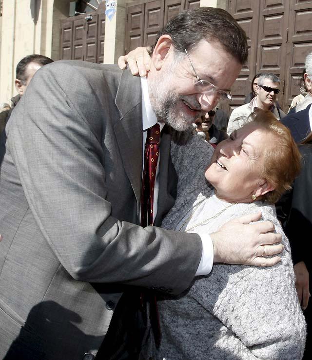 Rajoy visita el Monasterio de Fitero antes de inaugurar la sede del PP en Tudela