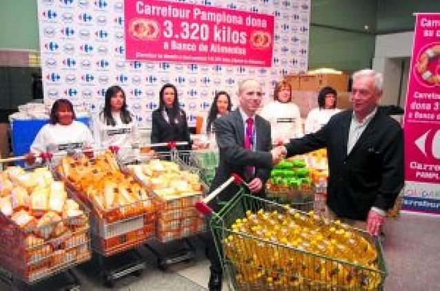 Carrefour dona 3.320 kilos de comida al Banco de Alimentos