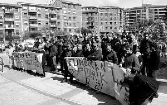 La plantilla de Funvera rechazará un ERE con una marcha hasta Pamplona