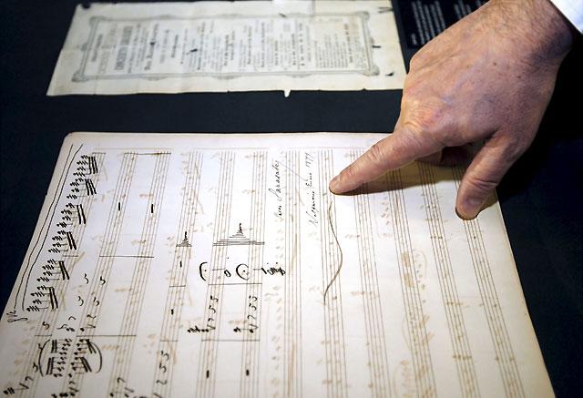 La exposición sobre Pablo Sarasate incorpora la partitura original de una pieza desconocida