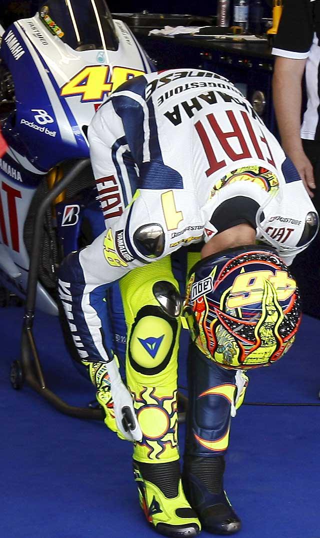 Dominio absoluto de Rossi en la primera jornada de entrenamientos libres