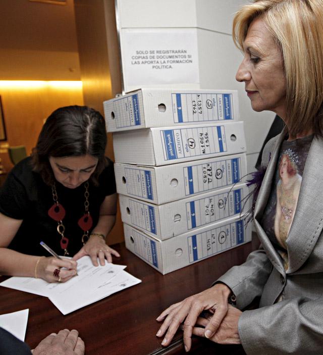 UPyD presenta su candidatura tras lograr el aval de más de 40.000 firmas