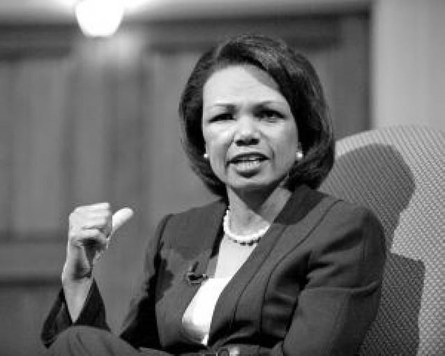 Un niño pone en aprietos a Condoleezza Rice