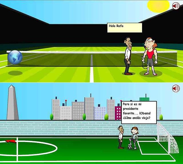 Obama, Nadal y Messi juntan sus fuerzas en un videojuego para salvar al mundo