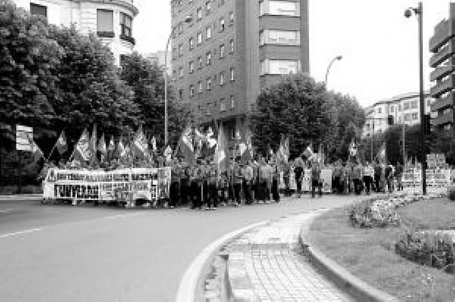 Los trabajadores de Funvera completan su marcha reivindicativa