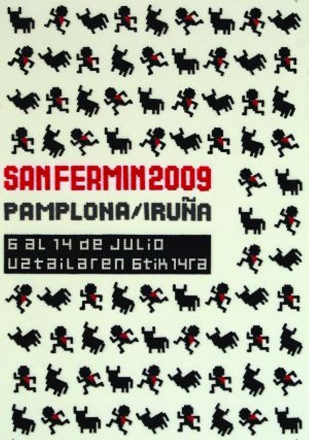 El cartel nº 1 de San Fermín ganaría el concurso, según los votos de la Ciudadela