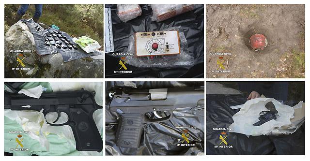 Hallados en Francia dos 'zulos' de los GRAPO con 6 pistolas y 8 kilos de explosivo