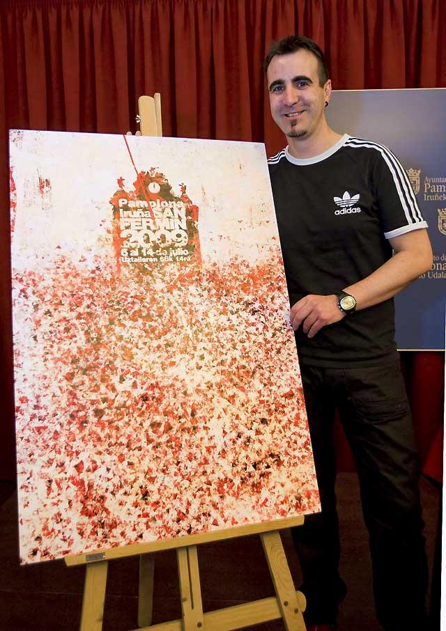'Gora San Fermín, viva San Fermín' gana el concurso del cartel anunciador de los Sanfermines 2009