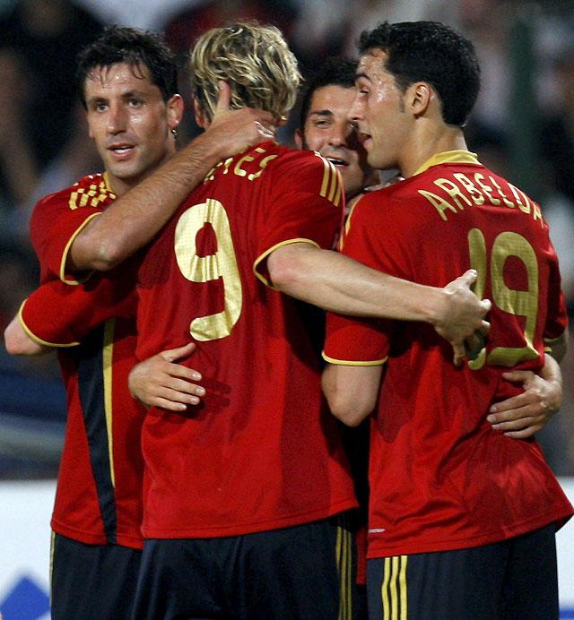 España gana fácilmente el amistoso contra Azerbaiyán, con Villa como protagonista (0 - 6)