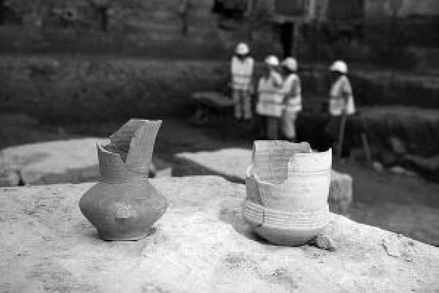 Encontrados restos de un mercado de la época islámica en el edificio de Sementales de Tudela