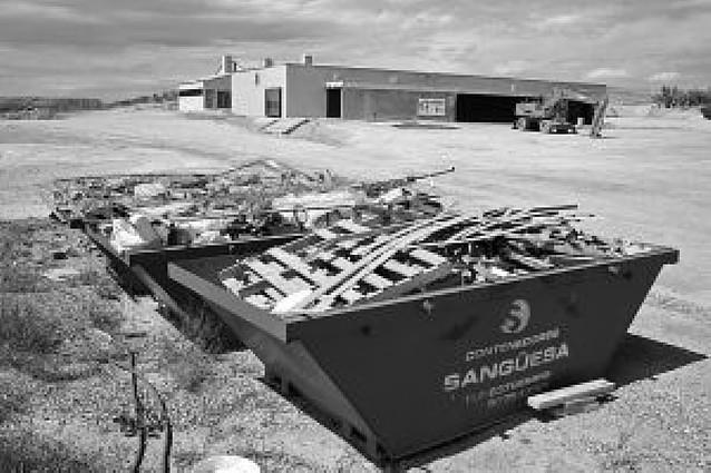 Las obras del centro de información de Bardenas llevan paradas casi un mes
