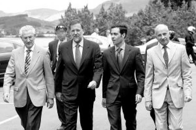 """Rajoy reconoce que no esperaba tener unos resultados """"tan buenos"""" en Navarra"""
