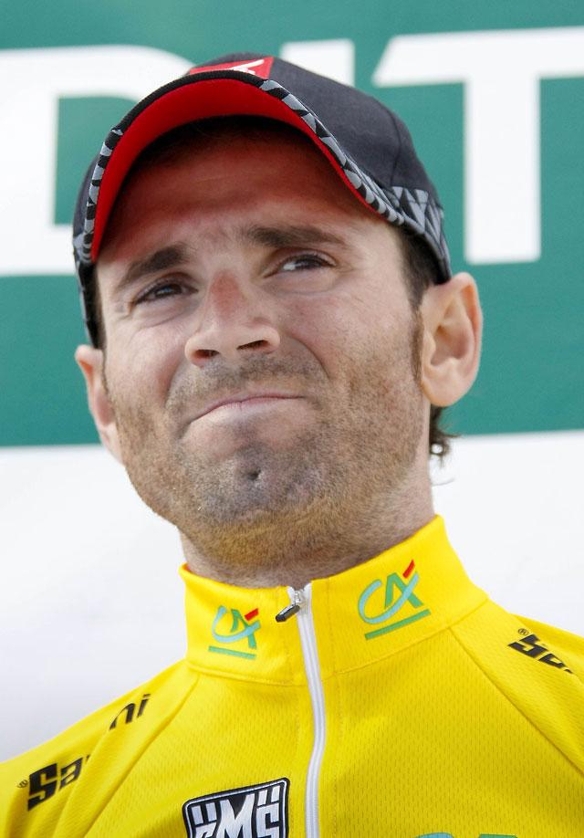 Valverde aprovecha el marcaje Evans-Contador para tomar el mando en la Dauphiné