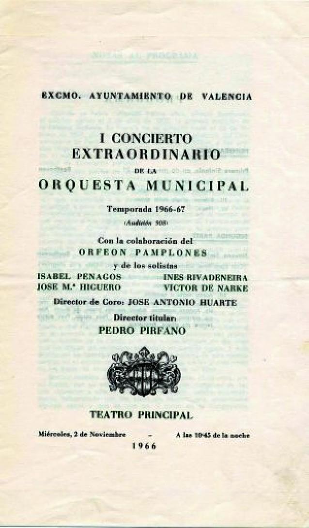 El Orfeón Pamplonés actua hoy en Valencia