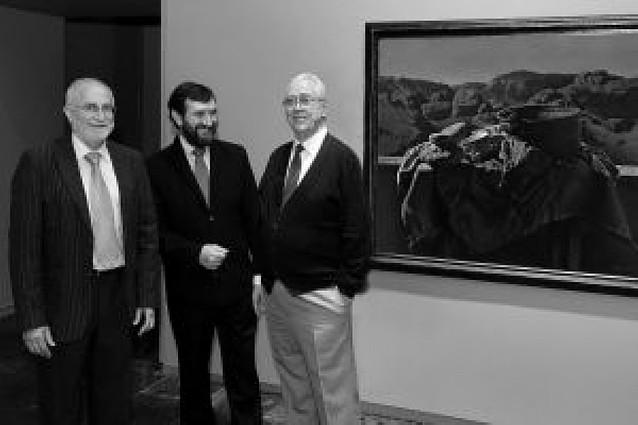 Donación de una pintura de Echauri al Museo de Navarra