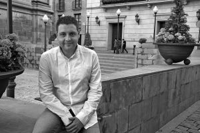 El periodista Pedro Blanco, Tudelano ausente