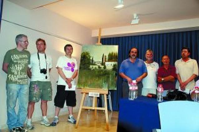 Juanjo Lazcano gana el concurso de pintura rápida de Monteagudo