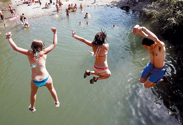 Pamplona vivió ayer el día más caluroso de los últimos 4 años