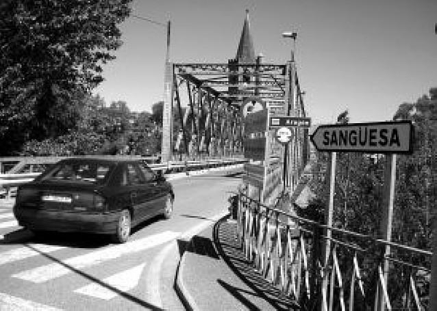 El puente de Sangüesa se corta desde hoy al tráfico hasta agosto