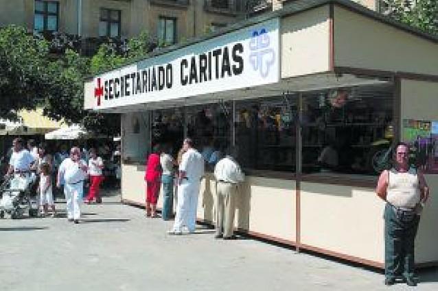 Tafalla ofrece a Cáritas tres posibles ubicaciones para instalar la tómbola