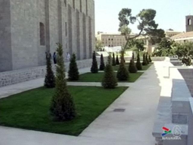 Inaugurada la urbanización del entorno del Archivo General de Navarra